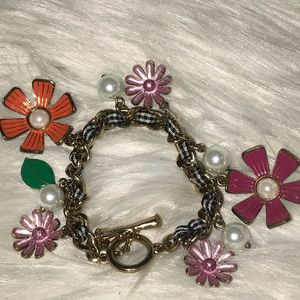 Betsey Johnson Floral Bracelet